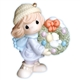 Girl with Christmas Wreath - Precious Moments Ornament, 710022