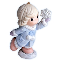 Girl with Snowflake - Precious Moments Ornament, 710024