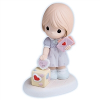 Girl with Valentines - Precious Moments Figurine, 730001