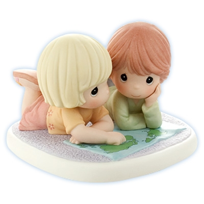 Boy and Girl with Map - Precious Moments Figurine, 820006