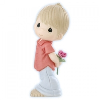 Boy Hiding Rose - Precious Moments Valentine Figurine, 830001