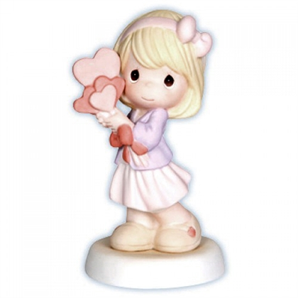 Girl with Hearts - Precious Moments Figurine, 830005