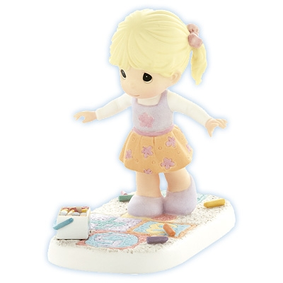 Girl Playing Hopskotch - Precious Moments Figurine, 830031