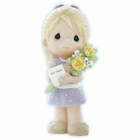 Girl Bringing Flowers and Card for Mom - Precious Moments Figurine, 840001