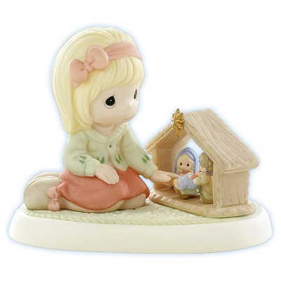 Girl with Nativity Set - Precious Moments Figurine, 890020