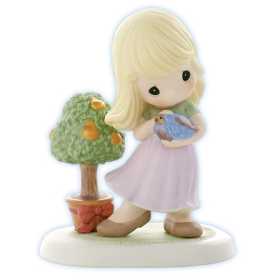 Girl with Partridge and Pear Tree - Precious Moments Figurine, 910019