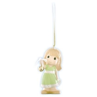 Girl Holding Bell - Precious Moments Ornament, 910026