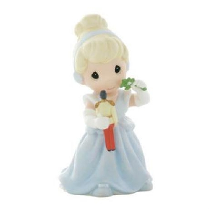 Cinderella with Mistletoe and Prince Toy - Precious Moments Figurine, 910041