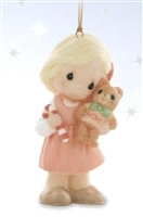 Girl with Teddy Bear - Precious Moments Ornament - 910054