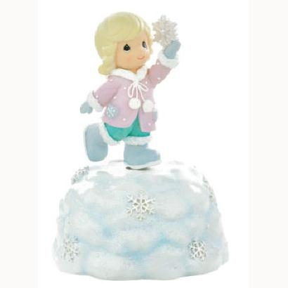 Girl with Snowflake - Precious Moments Rotating Musical Figurine, 990012