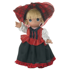 Precious Moments Hajna From Hungary 9 inch Doll, 3490