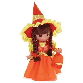 Precious Moments 9 Inch Doll Candy Corn Cuties Brunette 3541