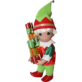 Precious Moments Loads of Christmas Cheer 9 Inch Elf Doll | 3710
