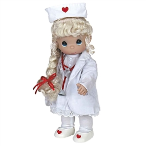 Precious Moments 'Loving Touch Nurse (Blonde)' 12in Doll, 4279