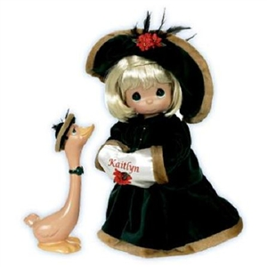 Precious Moments Doll Decked Out For The Holidays Blonde 4499