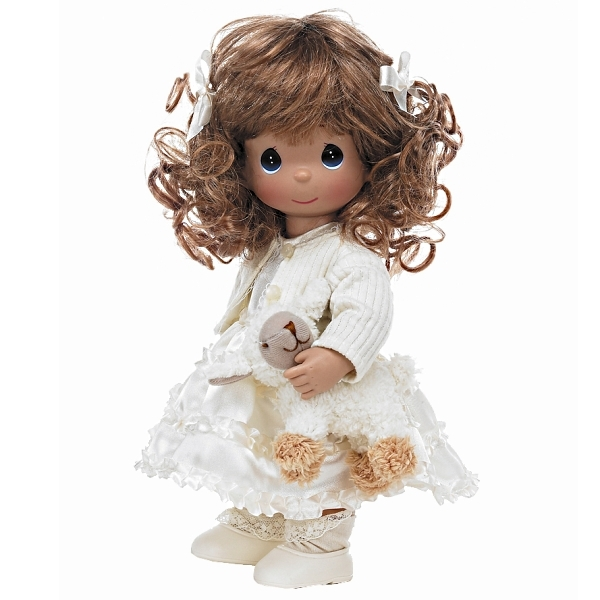Ewe So Sweet Brunette 12in Precious Moments Doll 4542