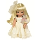 Blonde Girl with Mini Plush Bear - 12in Precious Moments Doll, 4642