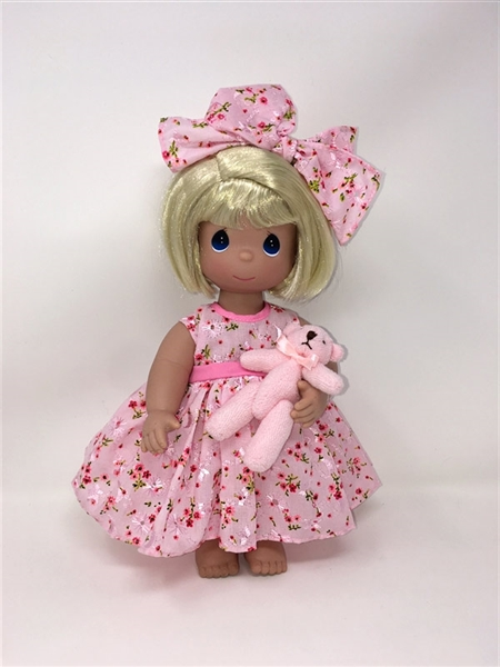 Precious Moments 12 Inch Doll Bear-Foot Blessings Blonde 4670