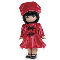 Precious Moments 'Warm Your Heart - Red' 12in Doll, 4674