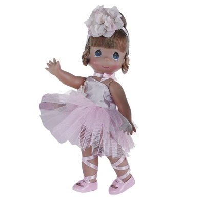Ballernina Bliss, Auburn, 12 inch Precious Moments Doll 4710