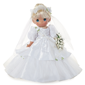 Blonde Hair 12 inch Bride Precious Moments Doll | 6603