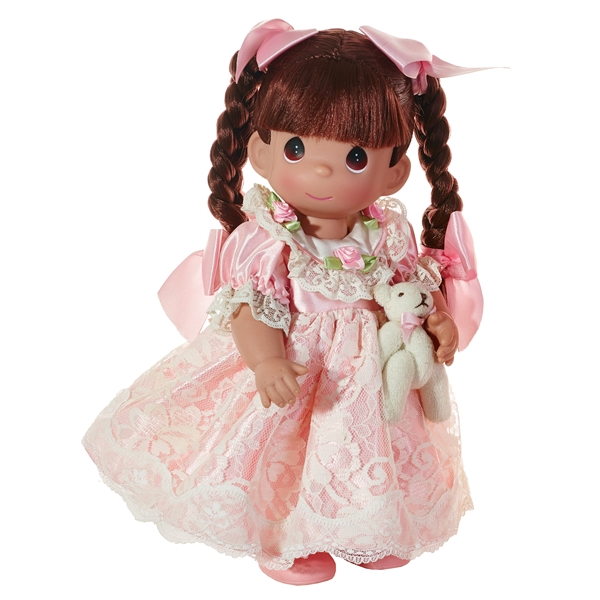 Precious Moments 12 Inch Brunette Haired Doll Spice 6633