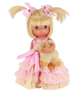 Precious Moments 12 Inch Doll Pretty in Pigtails Blonde | 6677