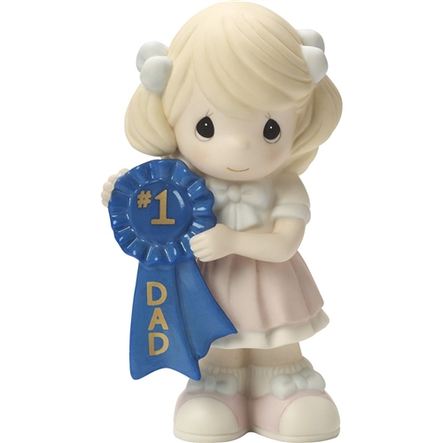 Precious Moments '#1 Dad' Girl Figurine