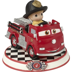 Precious Moments Red Fire Truck 'Cars' Figurine