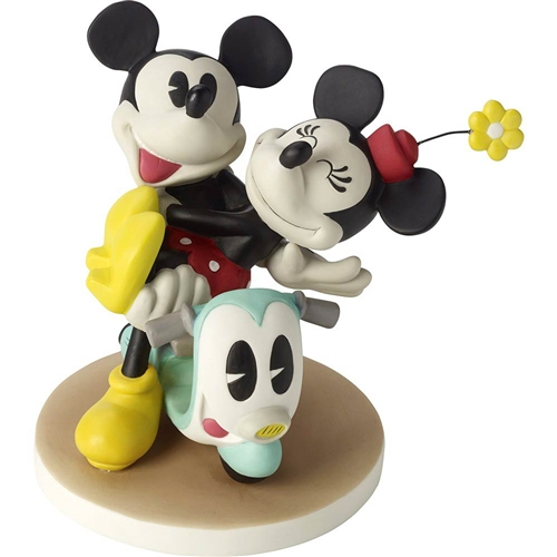 Precious Moments Mickey and Minnie on Scooter Figurine