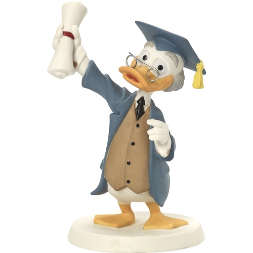 Precious Moments Ludwig Von Drake Hands Graduation Diploma Figurine