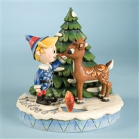 Heartwood Creek Rudolph and Hermey Figurine by Jim Shore, 4009802