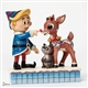 Jim Shore Hermey Touching Rudolph's Nose Figurine, 4047939