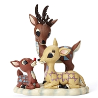 Rudolph Traditions Rudolph Donner and Mother Figurine by Jim Shore