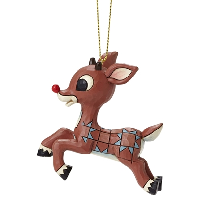 Rudolph Traditions Flying Rudolph Hanging Ornament By Jim Shore 4053078