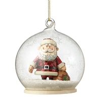 Rudolph Traditions Santa in Dome Hanging Ornament By Jim Shore
