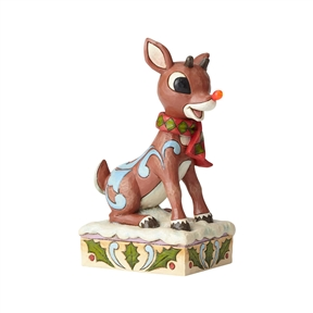 Rudolph Traditions Rudolph with Light-Up Nose Figurine, 6001591