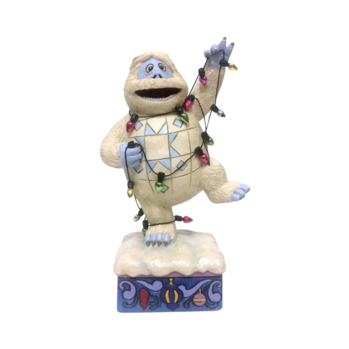 Rudolph Traditions Bumble Wrapped in Christmas Lights Figurine, 6001592