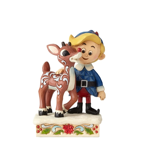 Rudolph Traditions Hermey Hugging Rudolph Figurine, 6001594