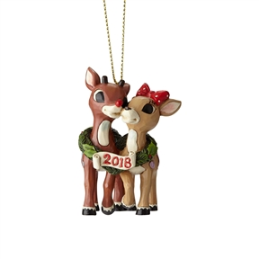 Rudolph Traditions Rudolph and Clarice 2018 Dated Ornament