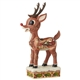 Rudolph Traditions Rudolph with Sleigh Scene Figurine, 6006789