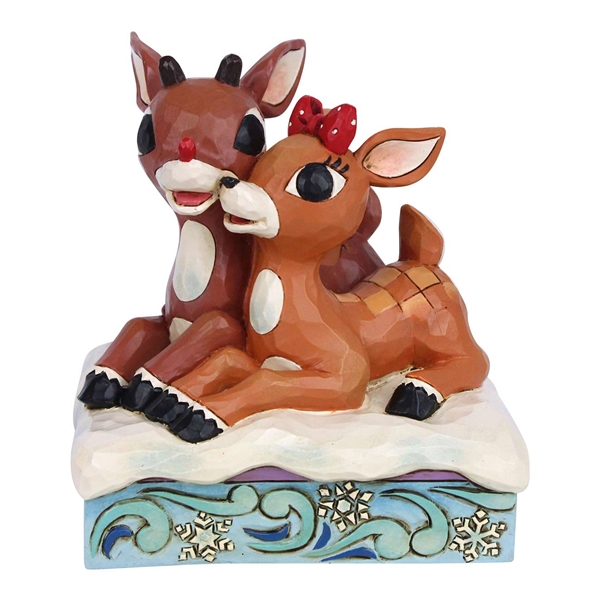 Rudolph Traditions Rudolph and Clarice Lying Down Statue, 6006790