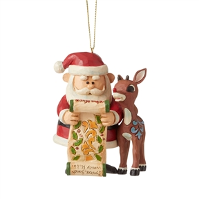 Rudolph Traditions Rudolph and Santa with List Ornament, 6006793