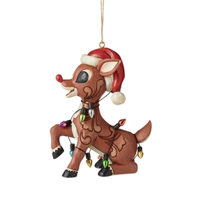Rudolph Traditions Rudolph Wrapped in Lights Ornament, 6006794
