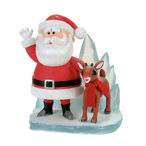Department56 Rudolph and Santa on Ice Figurine