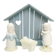 Snowbabies Four Piece Nativity Set by Department 56, Enesco, 6000827