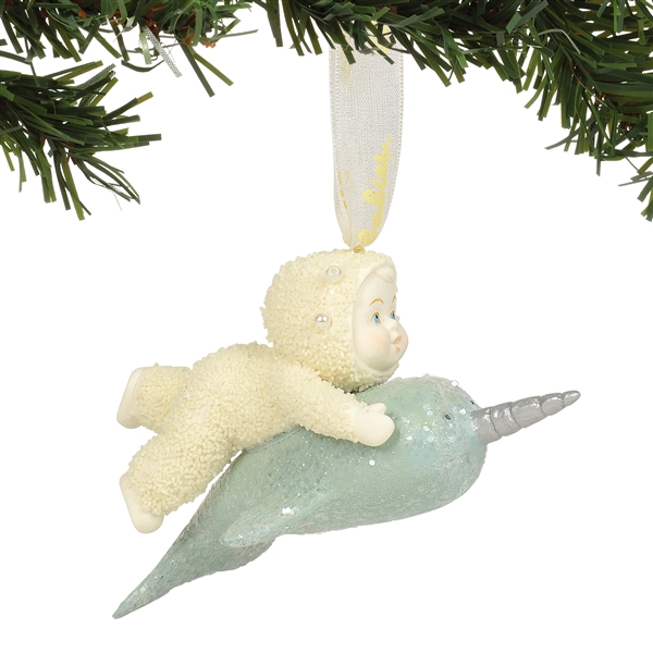 Snowbabies Narwhal Hanging Ornament by Department 56, Enesco, 6003536
