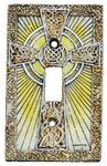 Celtic Cross 3D Single Switchplate - 1719