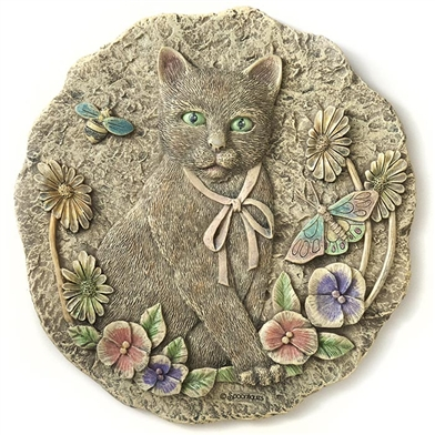 Spoontiques Cat Stepping Stone / Wall Plaque, 5071