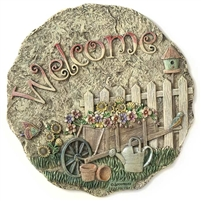 Spoontiques Flower Cart Stepping Stone / Wall Plaque, 5084